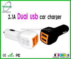 High efficiency 2.1a usb car charger, usb charger supplier, usb car charger ce rohs