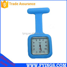 silicone clip watch nurse watch, stainless steel back