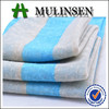 Mulinsen Textile New Collection Blue And White Stripe 30s Ring Spun Hacci Jersey Knit Fabric