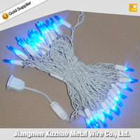 M5 70L 120V UL icicle Christmas light strings blue color white wire