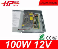 Guangzhou factory ac to dc constant voltage single output 100w 8.3 ampere 12v led switching power rohs adaptor