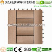 2015 hot selling Interlocking removable Outdoor Floor Tiles/Waterproof Composite Decking Tiles