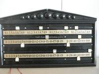 HALF BILLIARDS Plastic snooker scoreboard