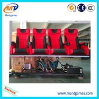 Pneumatic mini 5D cinema chair, 5D motion seat, 5D electric theater 2 seats people chair