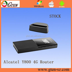 Alcatel one touch Y800 900 1800 2100 2600MHz wifi router on compact design 4g router with sim card slot