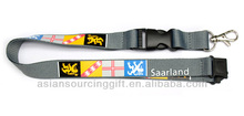 lanyards with logo custom flat polyester lanyard with silkscreen