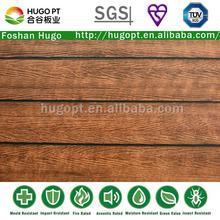vermelho alegre de isolamento térmico de grão de madeira revestimento da parede externa do painel