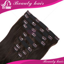 Virgin Clip In Hair Extension Ombre Full Head Clip In Hair Extensions Human Remy Two Tone 1B 27 Straight Clip In Hair Extensions