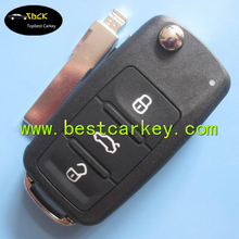 TOPBETS New VW key 3 button flip remote Key 433MHz 5K0 959 753 AB / 7E0 837 202 AD