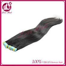 Many kinds of bright colors skin weft seamless hair extensions grade 7a virgin brazilian hair