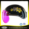 Black qualified ABS plastic shell women half face helmet for scooter