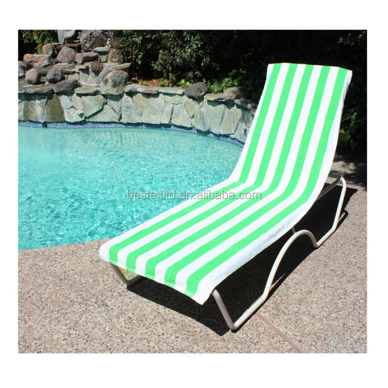 Bright colored Terry Stripe Cotton Beach lounge chair