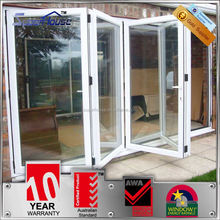 10years warranty double glass aluminum folding door partition for banquet hall with Australian standards AS2047 AS2208 AS1288