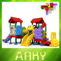 2015 newly fairy tale kids plastic slide outdoor garden play structure park slide