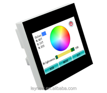 2015 Newest Leynew RGB led smart touch panel controller TS100 and TS100E for European standard control