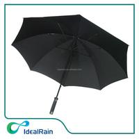 30inch black color manual open windproof men's large umbrella
