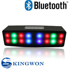 Kingwon 2015 new arrived shinning led wireless portable mini bluetooth built-in speaker shower radio