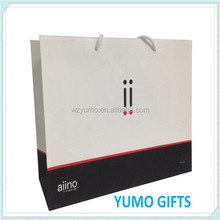 italian brand factory price white kraft paper bag with printing, craft paper bag for digital products