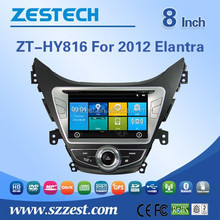 DVD media wholesale car video for Hyundai Elantra 2012 steering wheel FM radios MP3 player auto dvd