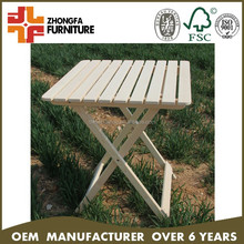 Solid pine wood outdoor folding table