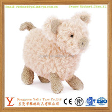 Soft farm animal toys pink pig plush