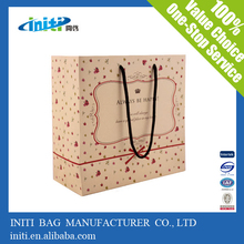 recycable fancy christmas paper gift bags from china supplier
