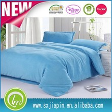polyester solid color fleece bed sheet/plain dyed fleece bed sheet