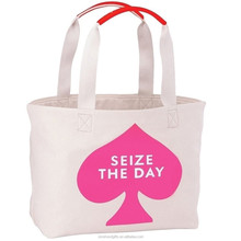 wholesale china factory manufacturer natural beige color canvas shopping bag