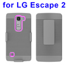 New arrival Shockproof Belt Clip Holster Hybrid case for lg excape 2 case