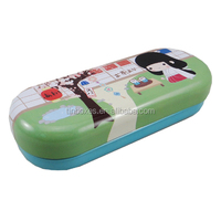 wholesale tin packaging oval metal eyeglass case