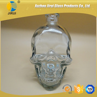 skull empty glass reed diffuser glass with stopper