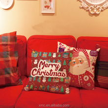 Festival Decorated Necessities Whole Red Plush Sofa Cushion For Christmas