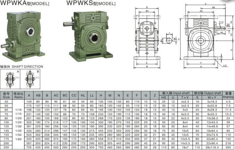 Worm Gear Speed Reducer WPWKA 200 sew gear motor