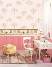 2015 Children Non-woven Wallpaper With decorative bamboo