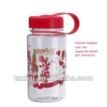 550ml Plastic water bottle with filter net