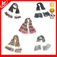 Lycra And Lace Patchwork Small Floral Scarf 2015 Factory China