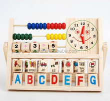 Educational Math wooden counting frame learning toy for kids