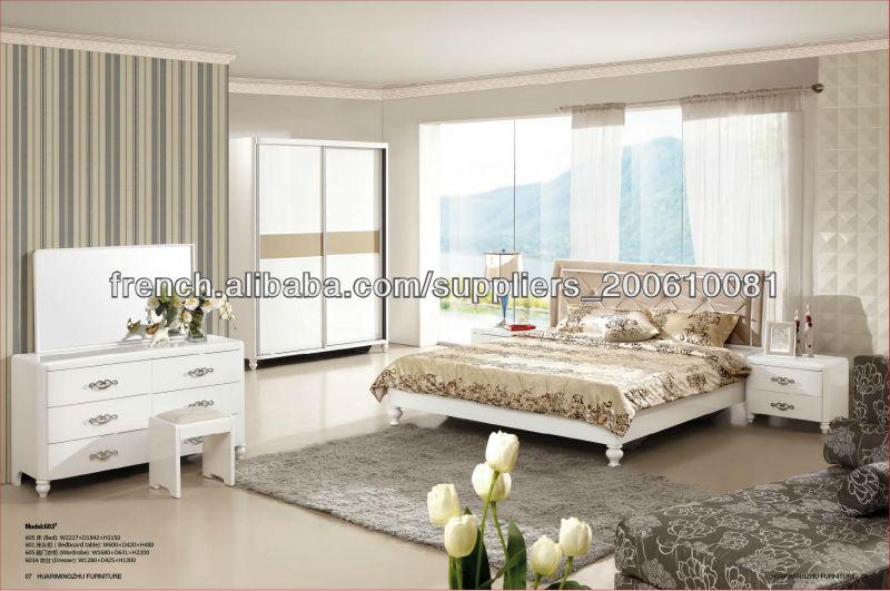 meubles de chambre à coucher réglée avec placard coulissantes