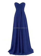 Gorgeous Sweetheart Neckline A-Line Chiffon Plus Size Prom Dress 2015 Blue Evening Dress in Turkey C48-4