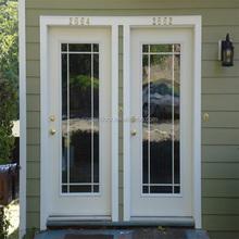 Low price aluminium double flush doors