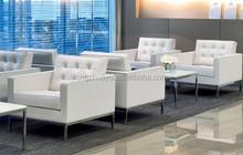 Modern classic Genuine leather hotel sofa set