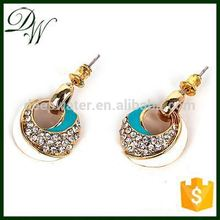 04303 Free Shipping newest ear zircon earrings jewellery shops interior design images, guangzhou personalized earring