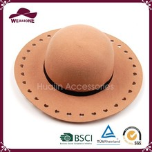 Fashion And High Quality Elegant Women Wool Felt Fedora Hat