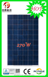 CE/IEC/TUV/UL Certificated polycrystalline 270W solar panel