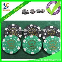 11.5g ABS dice poker chips print logo roulette poker chip set