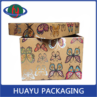 cardboard sliding gift box customized square shape