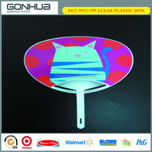 Best Hot Selling Fashion Factory Price Nice Cartoon Cat Printed Export Japan Plastic Hand Custom Fans For Gift Summer Promotion