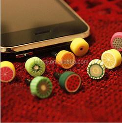 Fruit shaper earphone dust cap / mobile dust plug / earphone ear cap dock dust plug