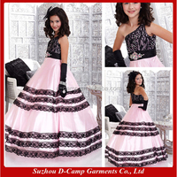 FG-141 Black and pink ball gowns for children pattern the most beautiful flower-girl-dresses-for-7-year-olds