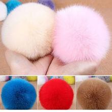 fashion accessory customize size 8cm-15cm rabbit fur pom poms fur pom keychain